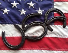 USA Horseshoe Wall Hanging Country Western by BarbieTheWelder