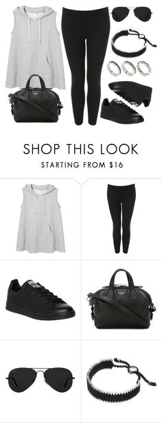 """Style #11184"" by vany-alvarado ❤ liked on Polyvore featuring Monki, Topshop, adidas, Givenchy, Ray-Ban, Links of London and ASOS"