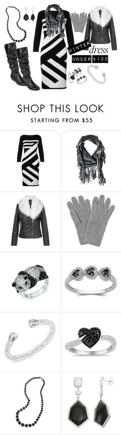 """""""Winter Dress Under 100 Contest"""" by texasradiance ❤ liked on Polyvore featuring donni charm, Blue Vanilla, L.K.Bennett, Kevin Jewelers, Swarovski, Miadora, Carolee and Cliffs by White Mountain"""
