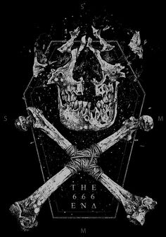 T H E 6 6 6 E N D by sick 666 mick #dark #illustration #skeleton #skull #black
