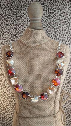 NEW Genuine Swarovski 12mm necklace set in by KissMySassJewelry, $65.00