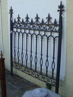 Cast Iron Fence Gate Panel Y00425B   eBay