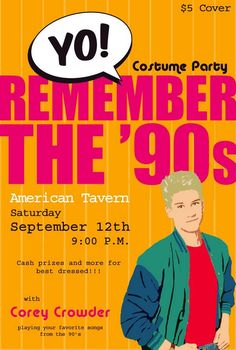 90s party. We should do some kinda of e-invite like this