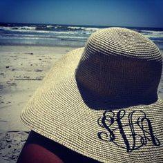 big, floppy, monogrammed hat- necessity for summer
