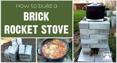 Mom with a PREP - Building a Brick Rocket Stove for your backyard gives you an alterntaive cooking source just in case. This is a quick and easy project to do this weekend! Cooking Pork Roast, Cooking Whole Chicken, Outdoor Cooking Stove, Outdoor Stove, Cinder Block Fire Pit, Cinder Blocks, Outdoor Projects, Outdoor Decor, Outdoor Furniture