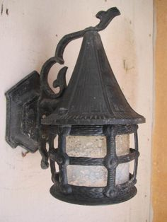 Antique Gothic Storybook Tudor Witches Hat Cottage Old World Sconce Porch light