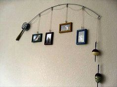 Fishing rod picture holder