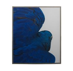 mantel art FLYING PARROT BLUE<BR>[available online and in stores]