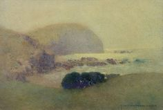 John William Tristram was an Australian watercolor painter with a poetic sense of softness and atmosphere. The forms seem v. Impressionist Landscape, Landscape Art, Landscape Paintings, Landscapes, Watercolor Artists, Watercolor Paintings, Watercolour, Australian Painting, Painting Videos