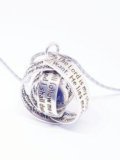 Stunning Psalm 23 Swivel Pendant by David J. David J, Psalm 23, Jewelry Design, Concept, Engagement Rings, Jewellery, Sterling Silver, Pendant, Beautiful