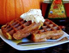 Gluten Free Pumpkin Waffles. The best waffles I have ever made