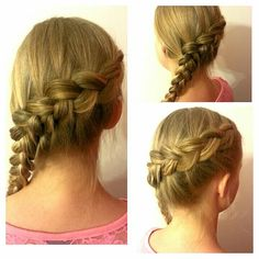 Side swoop dutch braid, this is my sister :)