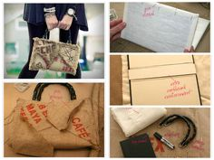 Creative burlap bag For the manufacture of bags used, in addition burlap cover of an old book,