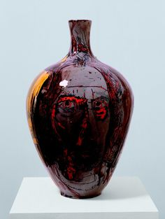 Grayson Perry | Self Portrait with Eyes Poked Out, 2004 Glazed ceramic, 55 x 34 cm 21 5/8 x 13 3/8 in