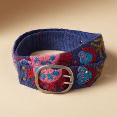 TROPICAL FLOWERS BELT - Belts - Accessories - Women   Robert Redford's Sundance Catalog