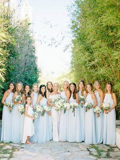 A bridal party of 12! http://www.stylemepretty.com/2017/04/10/lush-organic-wedding/ Photography: Lauren Kinsey - https://www.laurenkinsey.com/