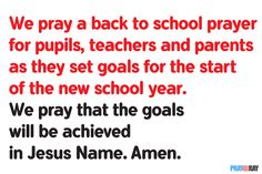 Start the new school year in back to school prayer, petitioning and thanksgiving to God. By doing so, you will experience the peace of God. Petition Prayer, Back To School Prayer, Teacher Prayer, Peace Of God, Divine Mercy, Faith Prayer, Prayer Quotes, Personal Goals, New School Year