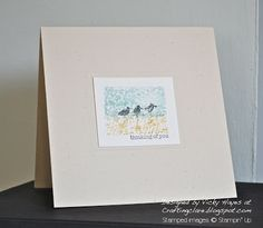 Stampin' Up ideas and supplies from Vicky at Crafting Clare's Paper Moments: Watercolour Wetlands