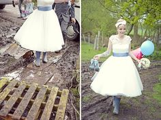 A festival inspired, wonderfully quirky tipi wedding from May 2012, where the bride swapped Vivienne Westwood Melissa shoes for wellies to party the night away! Gorgeous images by Cotton Candy Photography.