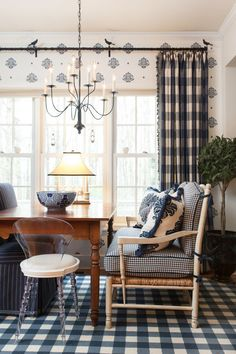 Buffalo checks, also known as buffalo plaid, has its origin with the Scottish tartan clans. This checkered fabric adds fun yet classic style to any room.