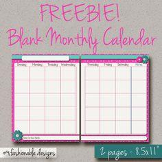 free printable blank undated mini binder calendars planners