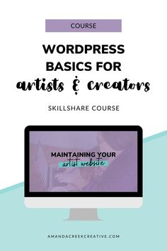 Your website is the primary place where your ideal customers can find out more information about your art, plus where they can learn more about you. This beginner's course, WordPress Basics for Artists, walks you through how to set up your website on a self-hosted WordPress website. Not only do you learn WordPress basics, but you'll also gain an understanding of what makes your website work for you. I've also included the essential things that you must have on your site. What Is Marketing, Media Marketing, Time Management Plan, Learn Wordpress, How To Get Clients, Planner Tips, Work From Home Tips, App Development Companies, Business Tips