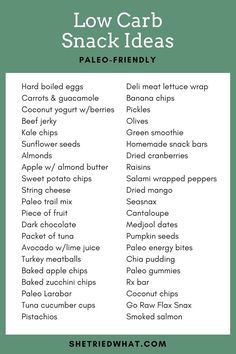 40+ Low Carb Ideas for Paleo Snacks