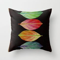 Leaves Throw Pillow by Klara Acel - $20.00