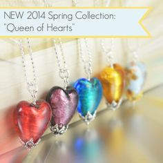 "Now at The Toledo Museum of Art inside the Collectors Corner Gallery...The new 2014 ""Queen of hearts"" spring collection"