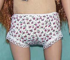 Free printable patterns for 18-inch doll clothes, underwear or panties and swimsuit or Tankini.