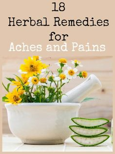 Speaking for myself, I am well versed in the use of essential oils for aches and pains but herbs? Not so much. Today I share 18 remedies that work from someone who uses them daily as part of her normal