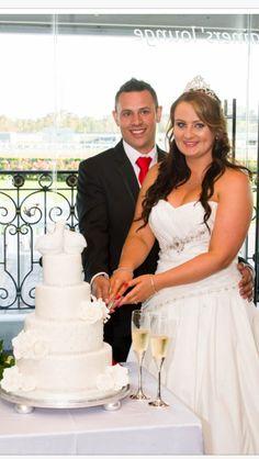 Love birds wedding cake created by Villa Chateau