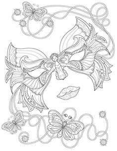 Adult Coloring Books: Butterfly Swirls (9781940282886): Tip Top Coloring Books