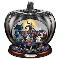 The Bradford Exchange Disney The Nightmare Before Christmas Pumpkin Sculpture: Lights Music and Motion Disney Halloween, Halloween House, Halloween Stuff, Halloween Village, Halloween Table, Outdoor Halloween, Halloween 2017, Halloween Night, Halloween Art
