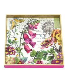 Take a look at this Primrose Path Square Tray by Michel Design Works on #zulily today!