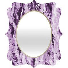 Lisa Argyropoulos Violet Melt Quatrefoil Mirror | DENY Designs Home Accessories