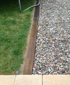 Image result for border for sand gravel back yard