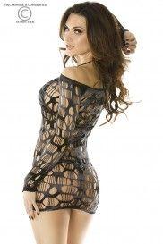 saxana_Sivé šaty CR-3380