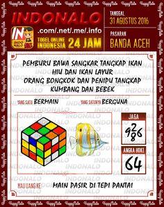 Prediksi Togel Wap Online Live Draw 4D Indonalo Banda Aceh 31 Agustus 2016