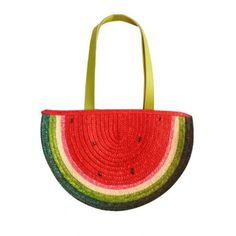 LUCLUC Watermelon Shape Straw Tote Bag (€20) ❤ liked on Polyvore featuring bags, handbags, tote bags, lucluc, watermelon, handbags tote bags, red purse, red tote handbag, straw tote handbags and red tote