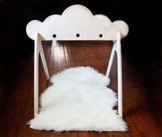 I adore this! Maybe my dad and I could make one... Wooden Cloud Activity Gym by ShopLittles on Etsy
