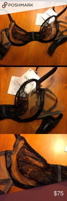 La Perla sexy lace brassiere Beautiful & sexy black and nude lace brassiere. Luxury at its best. Indulge & enjoy. Euro 2. USA 34B. Reasonable offers accepted. La Perla Intimates & Sleepwear Bras