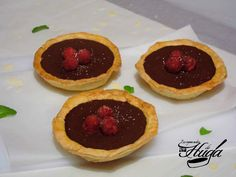 Tartaletas de chocolate y frambuesa on http://www.recetashuga.es