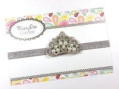 Baby Girl Princess Crown  Birthday Headband  by MissyRooCouture