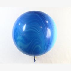 What's a party or event of ANY type without balloons?      Make a statement and an impact with this gorgeous and super chic JUMBO marble balloon in blue!  We are in LOVE with these - seriously the classiest balloons around!  These are not a printed design - each balloon has a unique and natural-looking marbled pattern!    Perfect for everything from kids parties to weddings and bridal showers.    Events Styling | Marble Balloons | Jumbo Balloons
