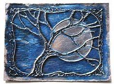 Foil art great instructions but too costly for school: love the idea of the tree and moon though . . .