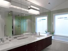Contemporary Bathrooms from Andreas Charalambous on HGTV green tiles
