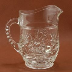 EAPC Star of David Syrup Pitcher Anchor Hocking Glass by charmings