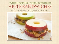 [Yummy Healthy Recipe for Kids] Apple Sandwiches