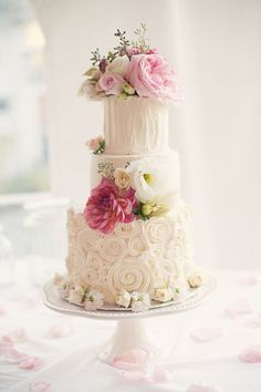 34 Romantic Wedding Cakes that Sweeten Your Big Day. http://www.modwedding.com/2014/02/28/34-romantic-wedding-cakes-will-melt-heart/